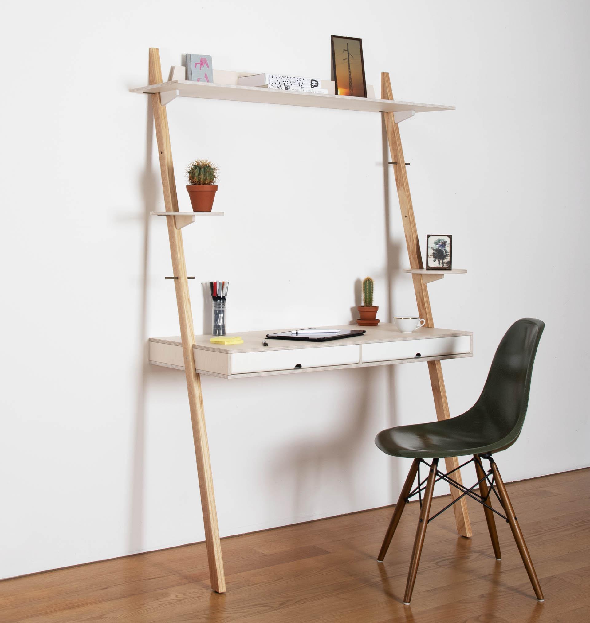 Der LEAN ON DESK ist ein kompakter Arbeitsplatz für das Home Office